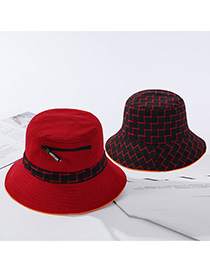 Fashion Red Dai Gezi Hat-sided Zipper