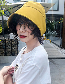 Fashion Yellow Strap Cotton Cloth Cap