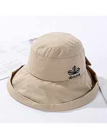 Fashion Khaki Embroidered Letter Can Hat Headband