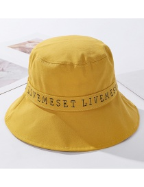 Fashion Yellow Letter Print Fisherman Hat