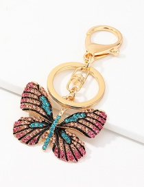 Fashion Color Inlaid Diamond Keychain Alloy Accessories