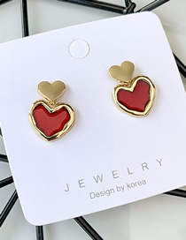 Fashion Main Picture Love Dripping Oil Color Irregular Earrings