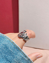 Fashion Silver Irregular Textured Bump Noodle Index Finger Ring