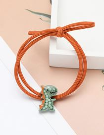 Fashion Green Little Dinosaur Elastic Resin Knotted Hair Rope