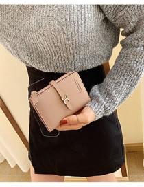 Fashion Pink Wallet Trim Short Wallet