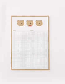 Fashion Large-bear Winnie The Grid Student Notepad