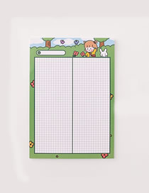 Fashion Large-green Girl Girl Rabbit Grid Student Notepad