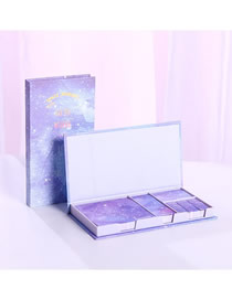 Fashion Starry Sky Series-simple Life Starry Sticky Tearable Notepad Combination Set