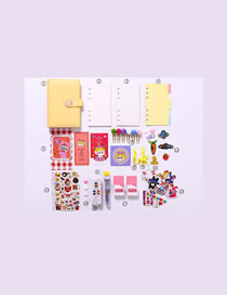 Fashion Luxury Suit Yellow Checkered Loose-leaf Notebook Stickers Sticky Note Set