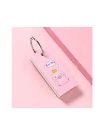 Fashion Stress Pig Pressure Pig Buckle Mini Thick Iron Ring Loose Leaf Blank Note Pad