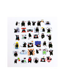 Fashion 38 Silly Bears Cute Stupid Bear Sticker Material This Phone Sticker Set