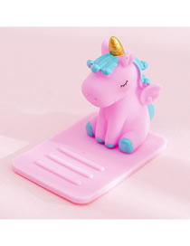 Fashion All-powder Unicorn Unicorn Multifunctional Desktop Car Adjustable Mobile Phone Holder