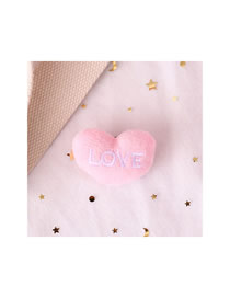Fashion Love Love Letter Plush Embroidery Brooch