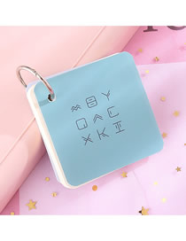 Fashion Small Section (light Blue) Iron Ring Portable Tearable Note Pad