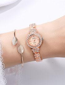 Reloj De Aleación Romana Con Diamantes.