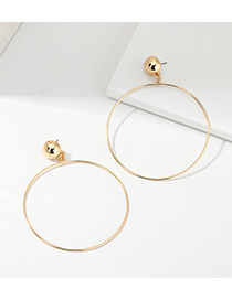 Fashion Golden Geometric Round Alloy Earrings