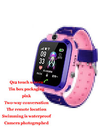 Fashion M5 Touch Screen Waterproof (pink) Tin Box Packaging 1.44 Waterproof Smart Phone Watch With Touch Screen