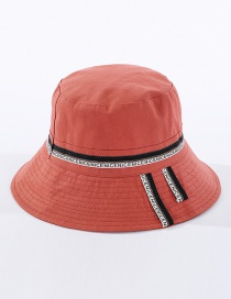 Fashion Orange Patch Letters Fisherman Hat