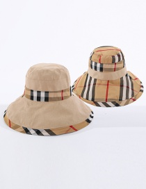 Fashion Beige Babag Color-blocking Fisherman Hat