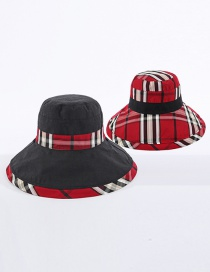Fashion Black + Red Babag Color-blocking Fisherman Hat