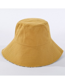 Fashion Yellow Big Eaves Line Foldable Fisherman Hat