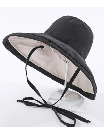 Fashion Black Fisherman Hat With Double Straps