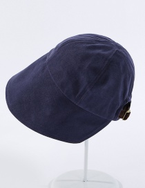 Fashion Navy Cotton Adjustable Fisherman Hat