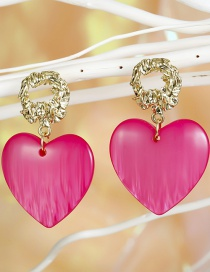 Fashion Love Rose Love Resin Irregular Concave And Concave Long Earring