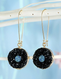 Fashion Heiyuanda Resin-like Natural Stone Round Alloy Earrings
