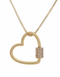 Fashion Golden Cubic Zirconia Love Necklace