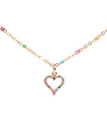 Fashion Love Dripping Heart Love Necklace With Diamonds