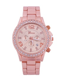 Fashion Rose Gold Women's Diamond Watch