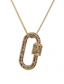 Fashion Golden Cubic Zirconia Round Necklace
