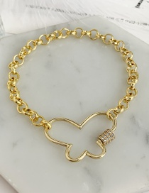 Fashion Golden Cubic Zirconia Butterfly Bracelet