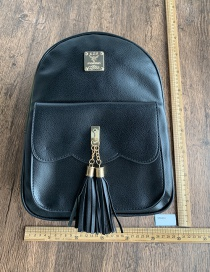Fashion Black Pu Fringed Backpack
