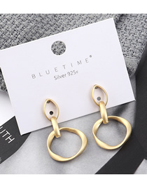 Fashion Dumb Gold Plated Gold Small Circle Hollow S925 Silver Needle Earrings