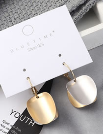 Fashion Gold Plated Gold Bump S925 Silver Needle Earrings