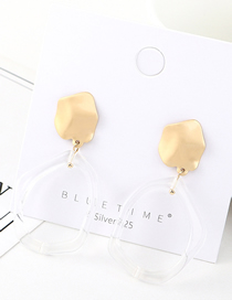 Fashion Gold Plated Gold Geometric Small Lotus Leaf Cutout S925 Silver Needle Earrings