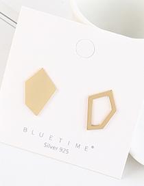 Fashion Golden Gold-plated Irregular Geometric Cutout Earrings