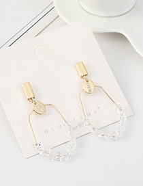 Fashion 14k Gold S925 Silver-plated Crystal Earrings