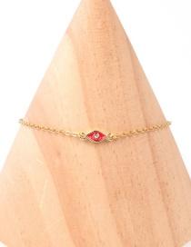 Fashion Golden Dripping Eye Stainless Steel Zircon Bracelet