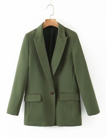 Fashion Green One Button Small Suit