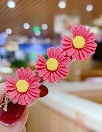 Fashion Watermelon Red Series Small Daisy Hit Color Flower Hairpin