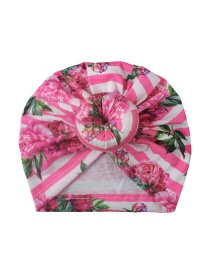 Fashion Rose Pink Children's Hat With Printed Borderless Donut
