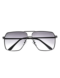 Fashion Gun Black Alloy Resin Square Sunglasses