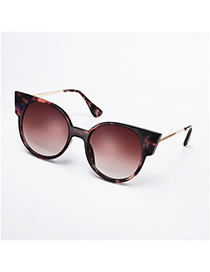 Fashion Floral Round Cat-eye Alloy Sunglasses