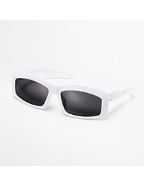 Fashion White Square Cycling Outdoor Sports Sunglasses