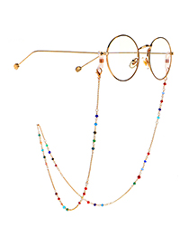 Fashion Color Colorful Crystal Handmade Chain Metal Glasses Chain