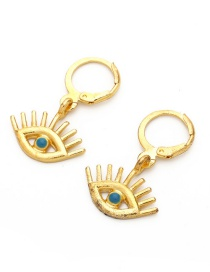 Fashion Blue Alloy Pierced Eye Earrings
