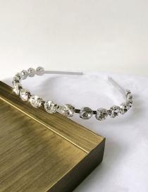 Fashion Geometric Flash Diamond Black Flash Diamond Velvet Geometric Headband